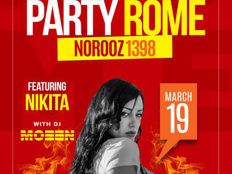 Radio Javan Party in Rome featuring Nikita