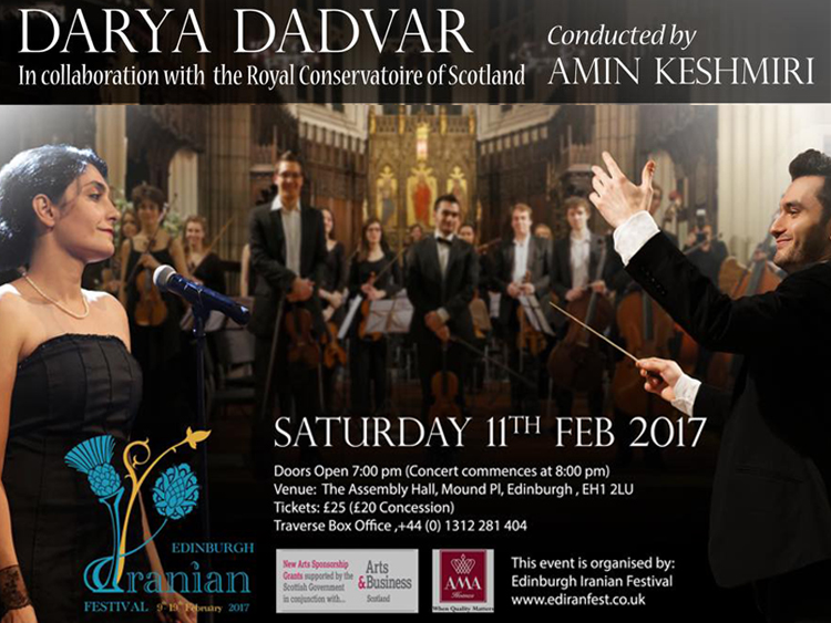 Darya Dadvar live in Edinburgh