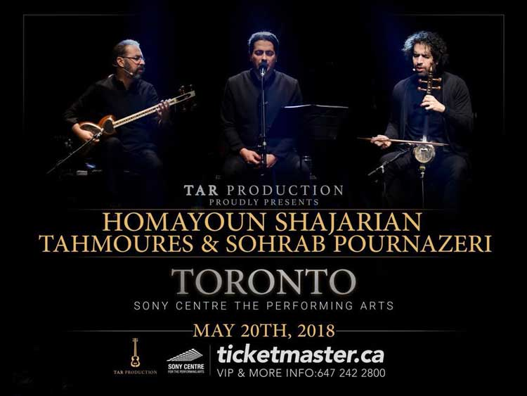Homayoun, Tahmoures & Sohrab live in Toronto